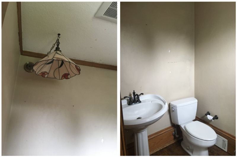 Half Bath Before & After