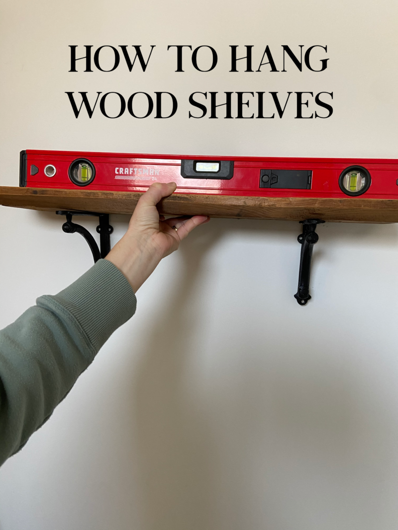 How to hang wood shelves