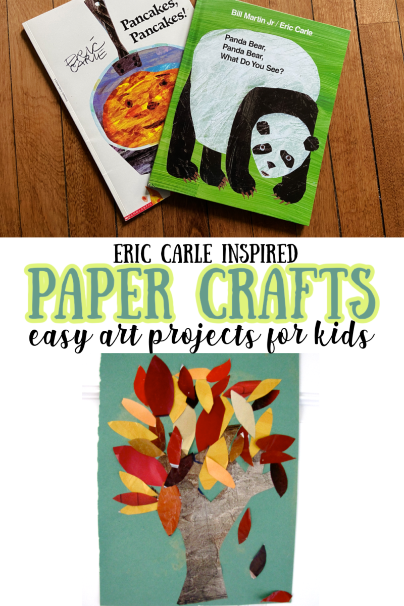 Eric Carle Inspired Paper Crafts - easy art projects for kids
