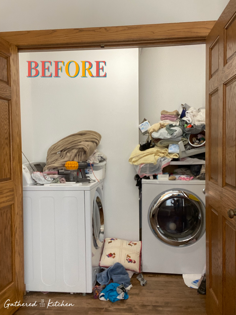 Small Laundry Room Before & After