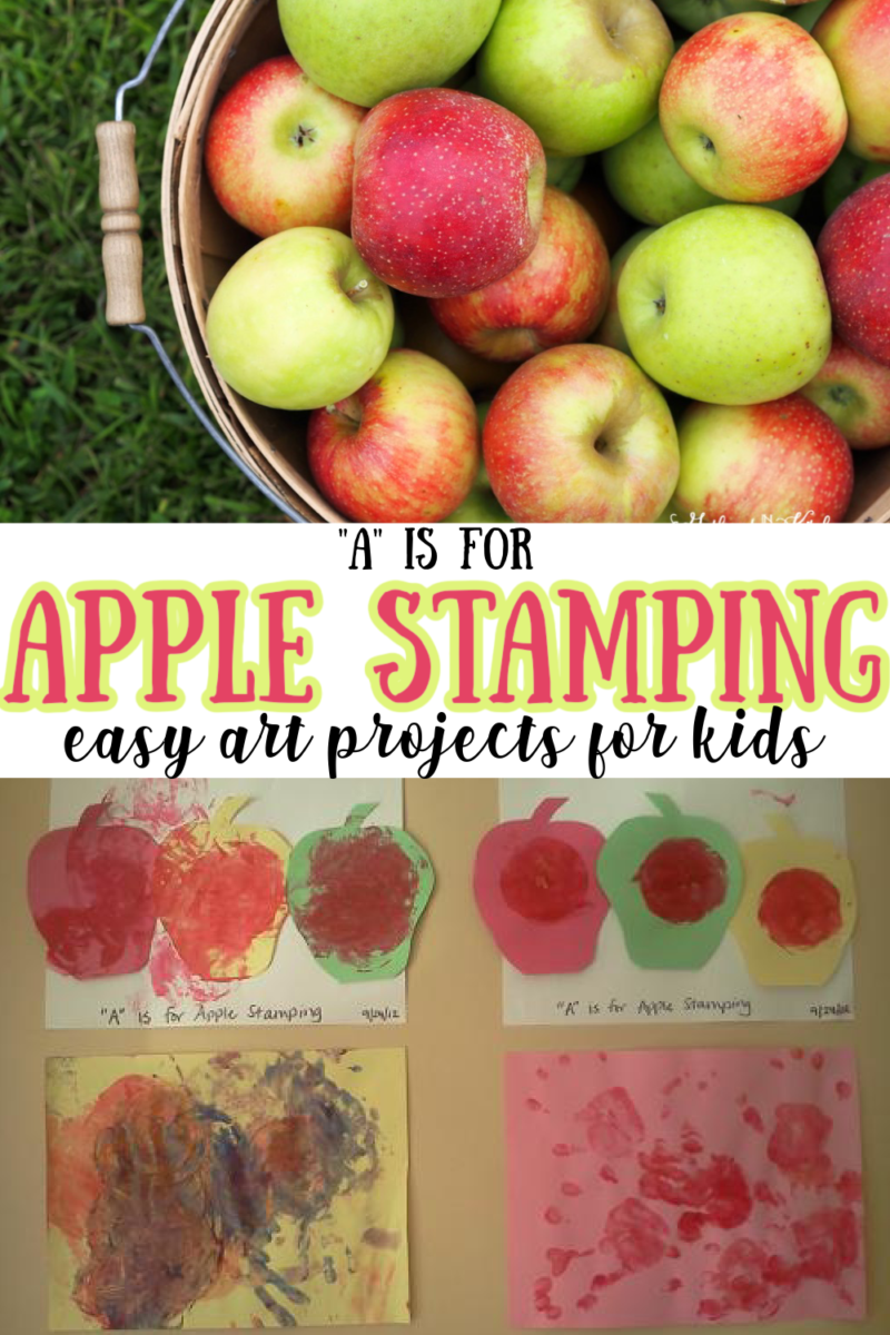 Apple Stamping   Easy Art Projects for Kids