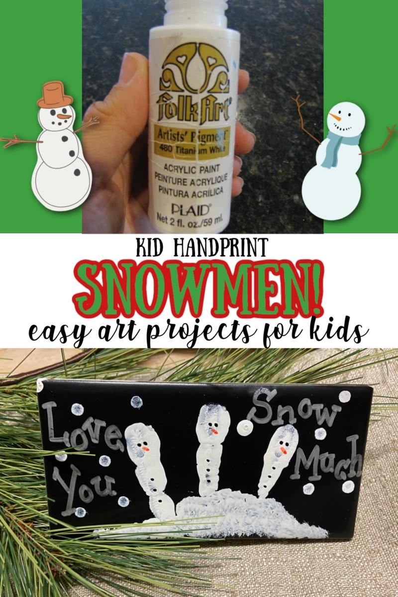 Kid Handprint Snowmen! - Easy Art Projects for Kids