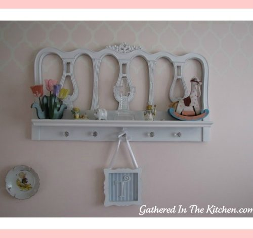 Headboard Turned Shelf: Repurposed Headboard