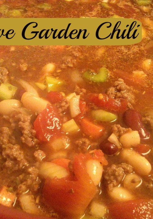 Olive Garden Chili Copy Cat Recipe