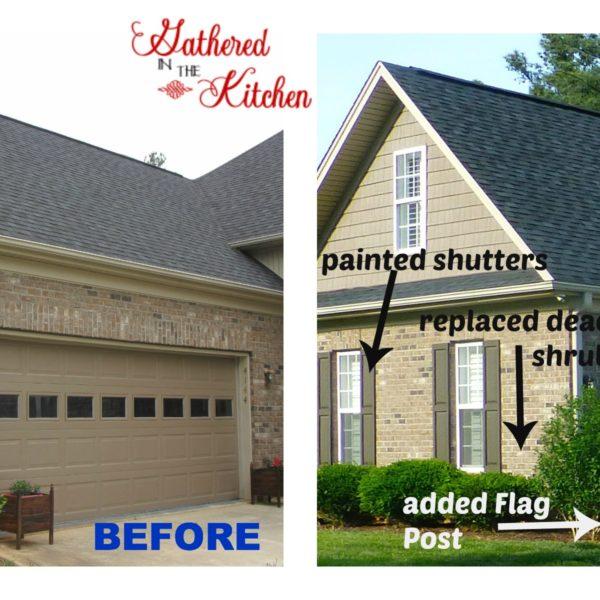 Garage Door Makeover – Before and After
