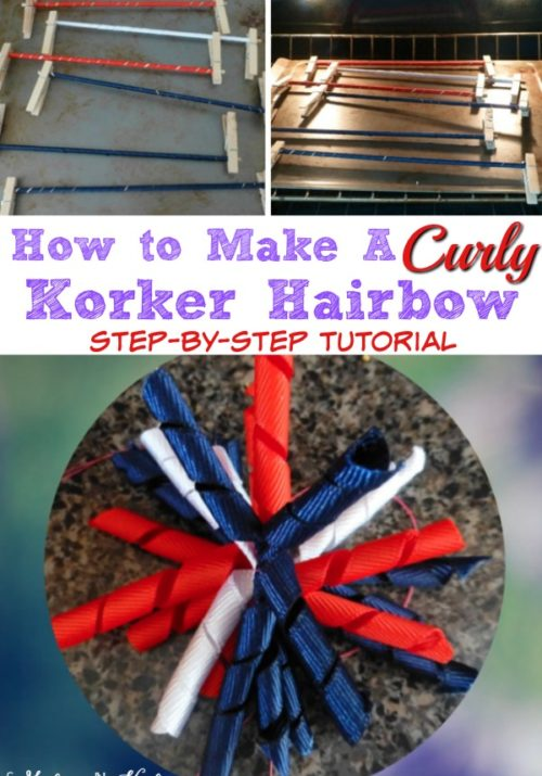How to make a curly korker hairbow - step by step tutorial