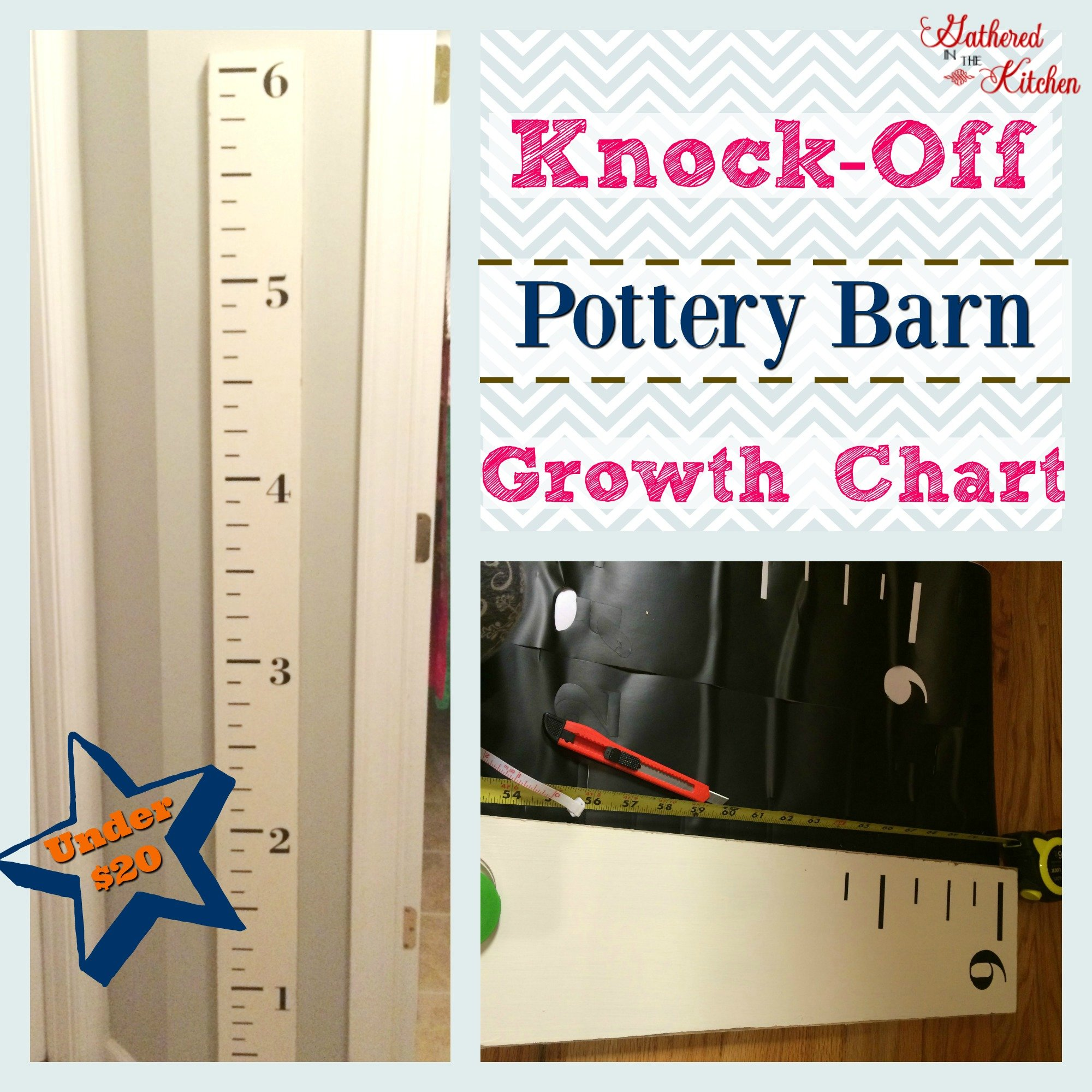 Diy Knock Off Pottery Barn Kids Growth Chart