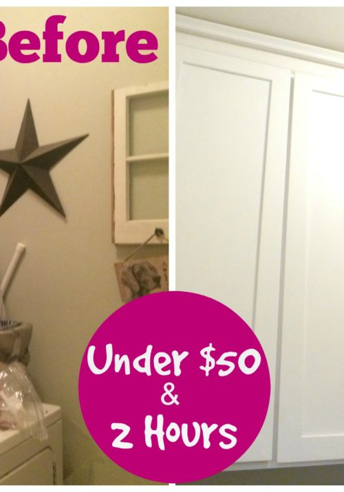Laundry Room Makeover Before & After Under $50 and 2 Hours