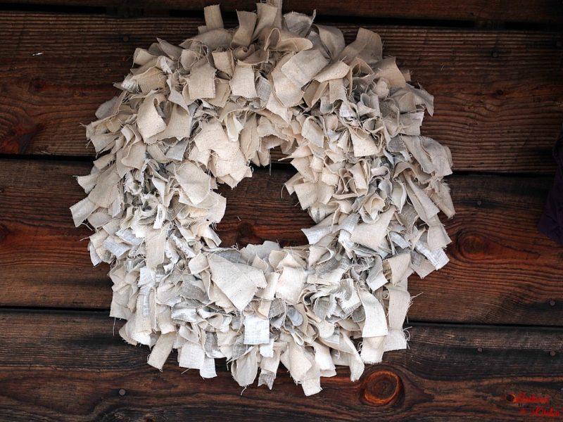 DIY Rag Wreath Tutorial - Beginner Level & Under $10