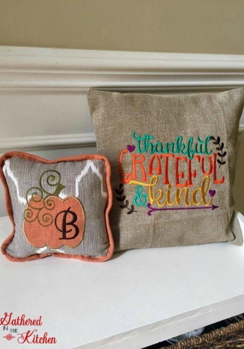 DIY Thanksgiving Pillows