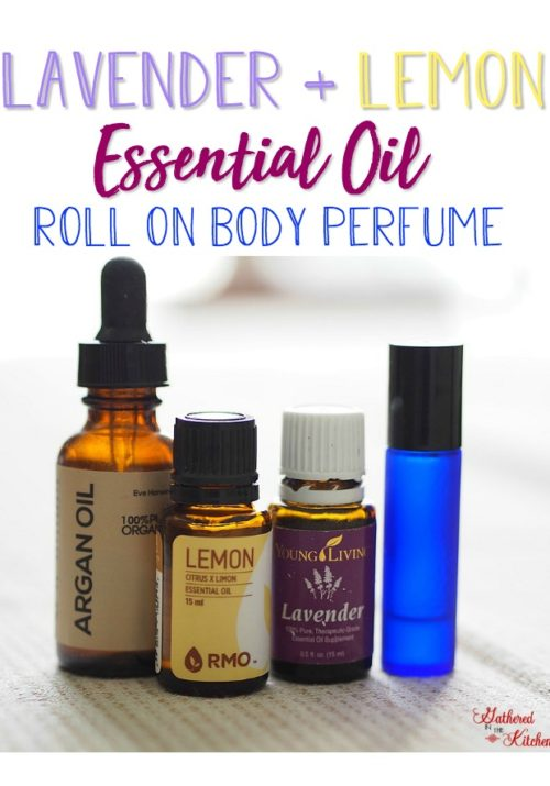 Make your very own Lavender Lemon Essential Oil Roll On Body Perfume in just a few minutes! Gathered In The Kitchen - Where to buy essential oil roller bottles for cheap