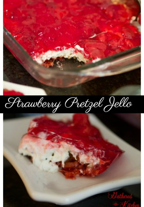 strawberry pretzel jello salad