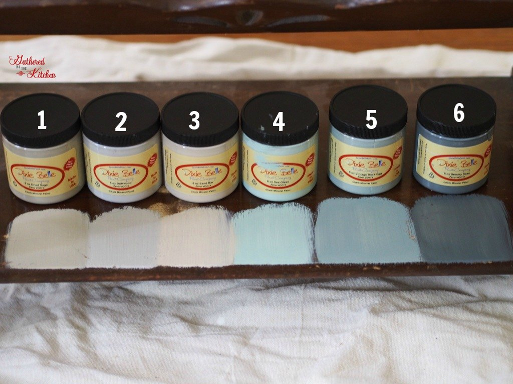 Repurposed Old Table with Chalk Paint and Stencil