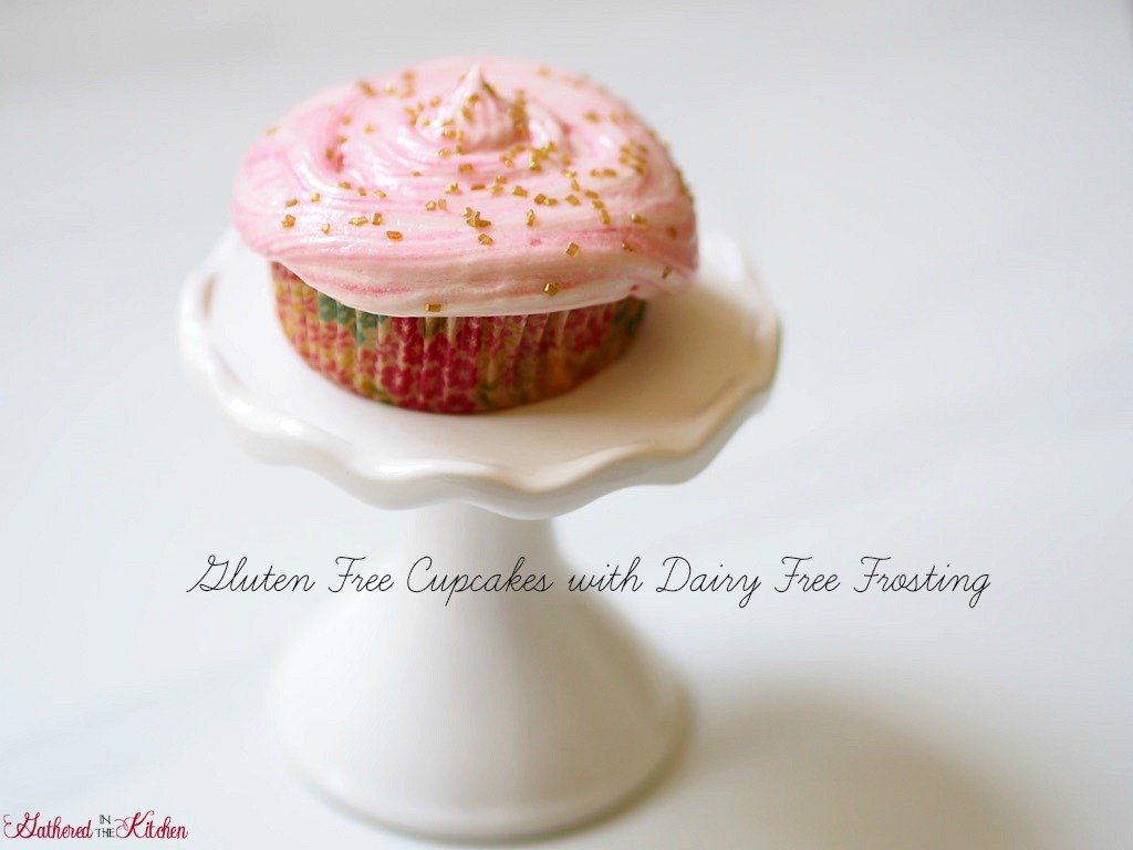 Gluten Free Cupcakes with Dairy Free Frosting