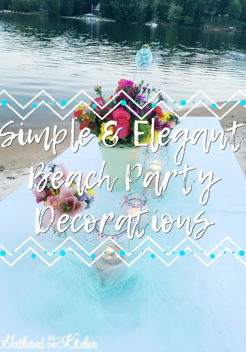 Elegant & Simple Beach Party for adults