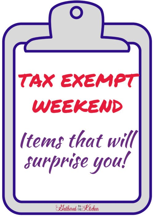 tax exempt weekend in South Carolina