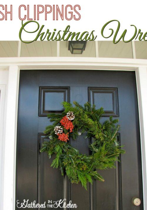 DIY Fresh Clippings Christmas Wreath