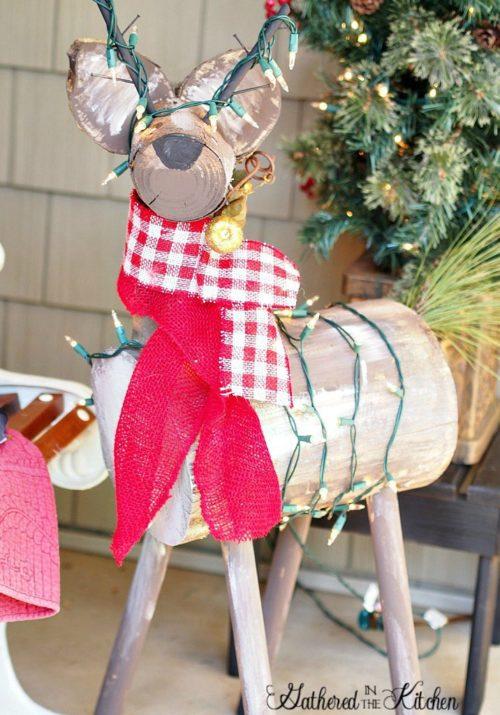 DIY Wooden Reindeer