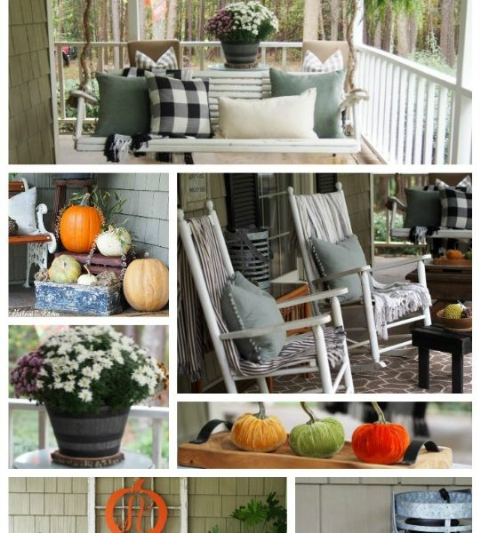 Easy Outdoor Fall Porch Decor