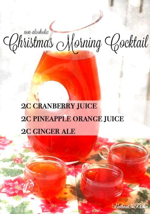 non-alcoholic Christmas Morning cocktail