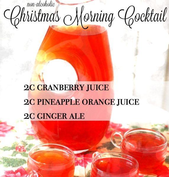 Christmas Morning Cocktail, non-alcoholic