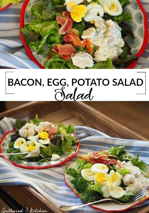 Bacon Egg and Potato Salad Salad