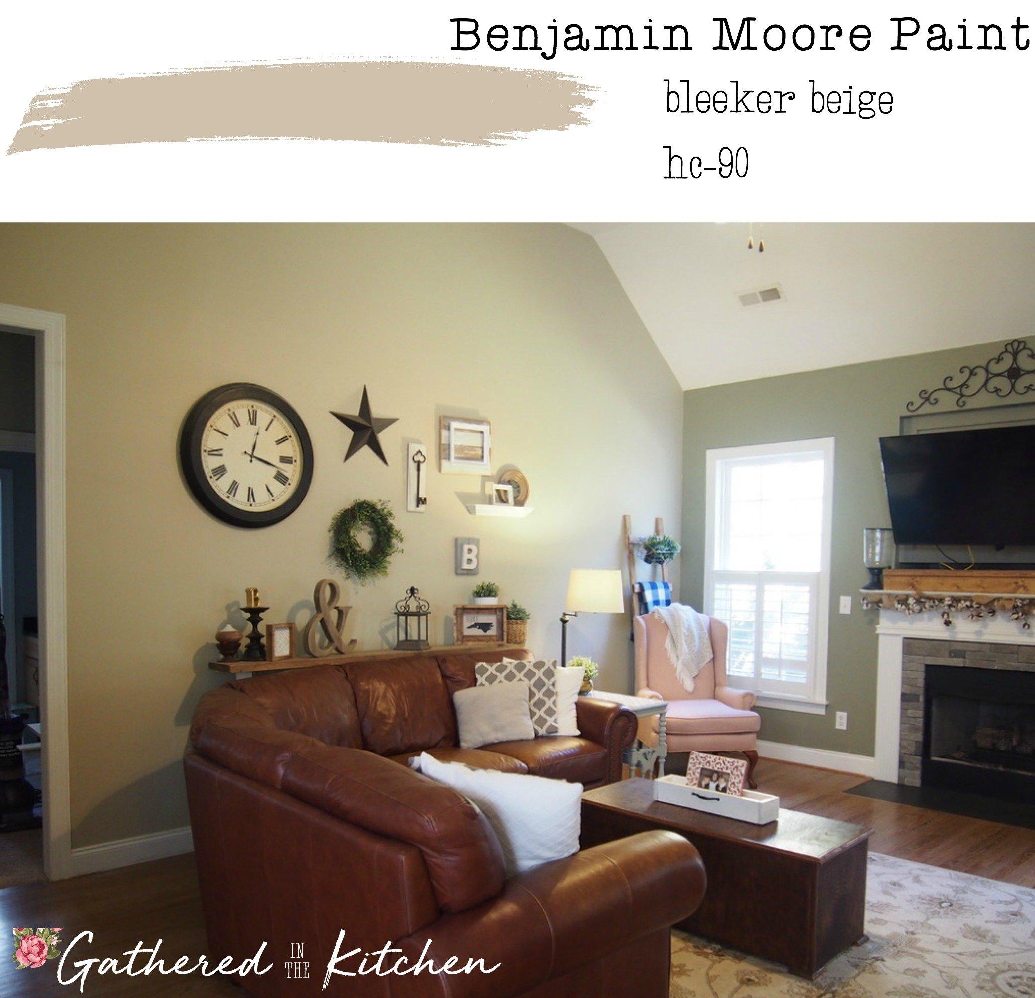 Benjamin Moore Paint Bleeker Beige Hc