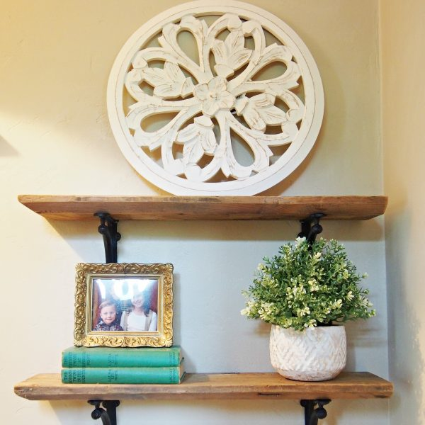 Farmhouse Bathroom Shelving
