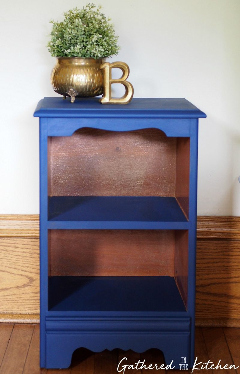 Nightstand Painted in Dixie Belle Bunker Hill Blue
