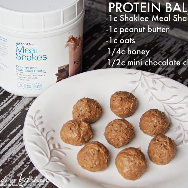Protein Balls with Peanut Butter & Oats
