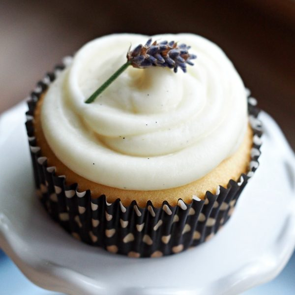 Lavender Cupcakes & Lavender Cream Cheese Frosting
