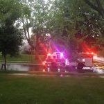 House Fire - fire trucks arriving