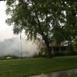 House Fire - yard filled with smoke