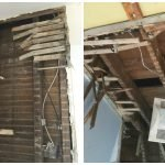 Plumbing and electrical ripped out of house during house fire