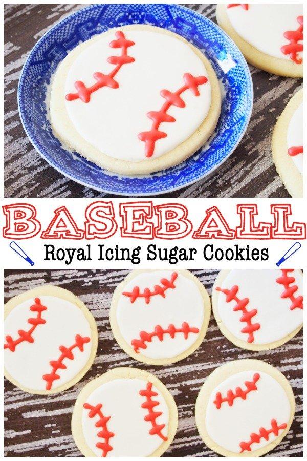 baseball royal icing sugar cookies