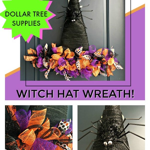 Dollar Tree Witch Hat Wreath