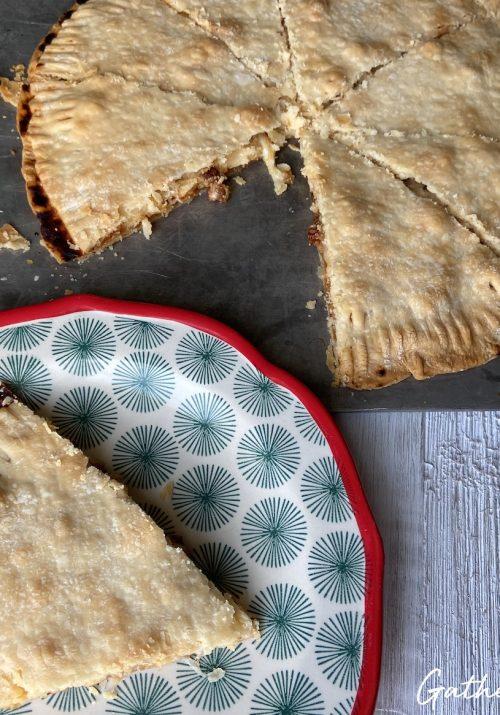 homemade baked pizza pie