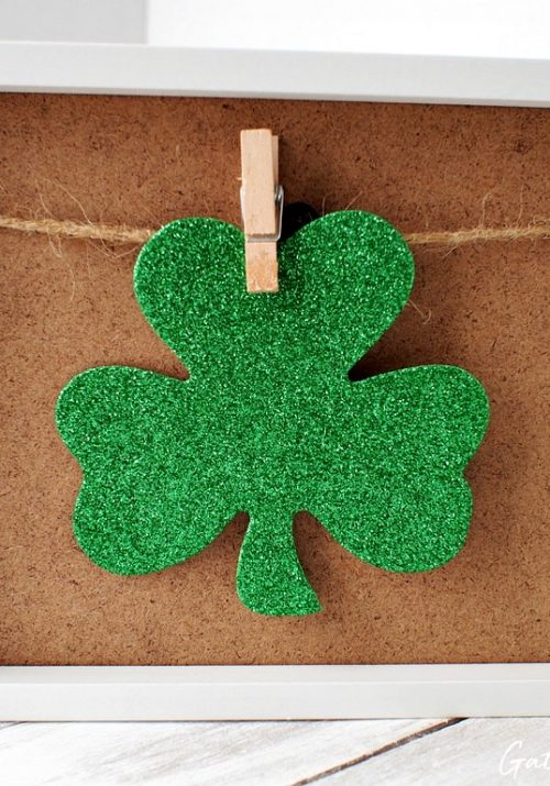 Clothespin Photo Frame   St. Patrick's Day Shamrock