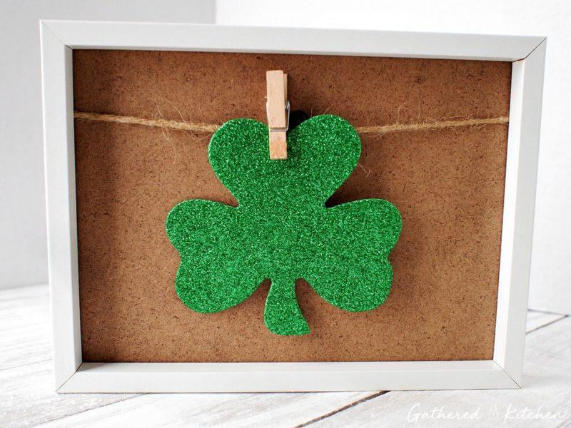 Clothespin Photo Frame | St. Patrick's Day Shamrock