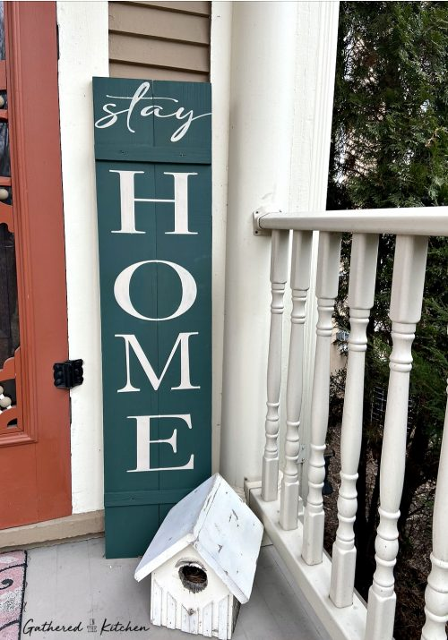 Stay Home | Wooden Porch Sign