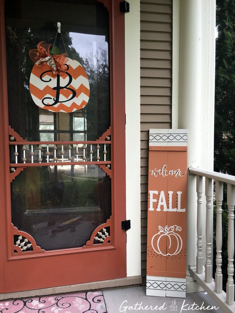 DIY Fall Wooden Porch Sign