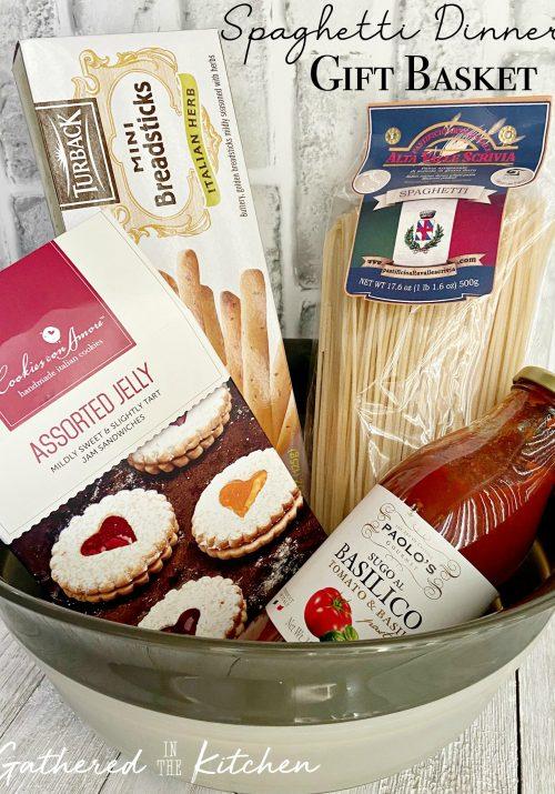Spaghetti Dinner Gift Basket
