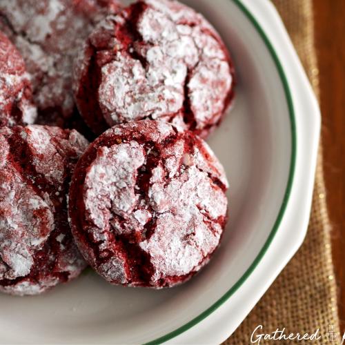 Red Velvet Christmas Crinkle Cookies 3