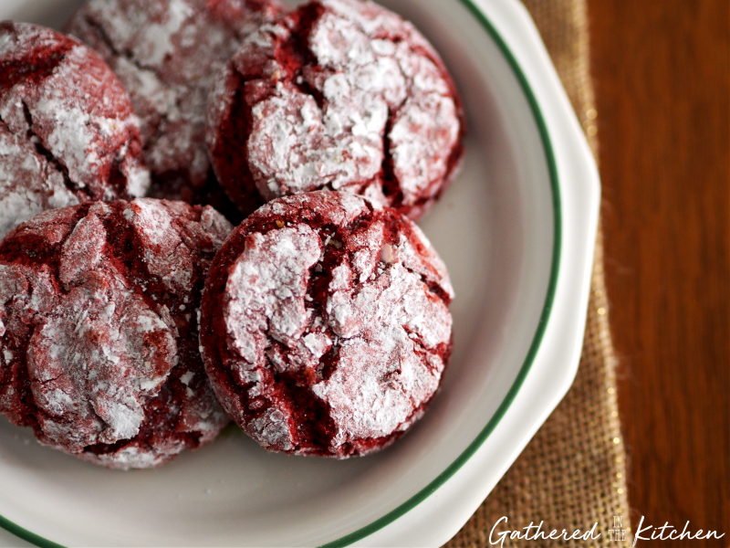 Red Velvet Christmas Crinkle Cookies 3