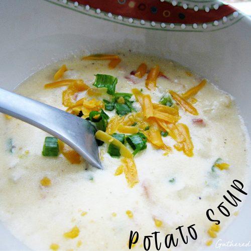 Homemade Potato Soup in a Bread Bowl