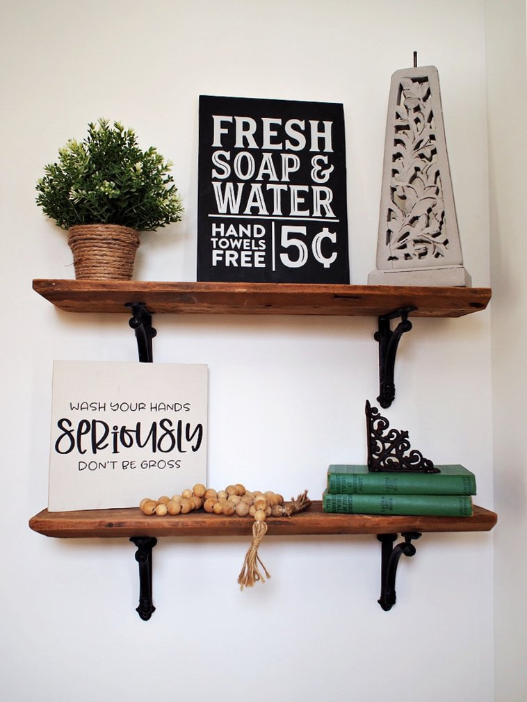 How to hang wood shelves
