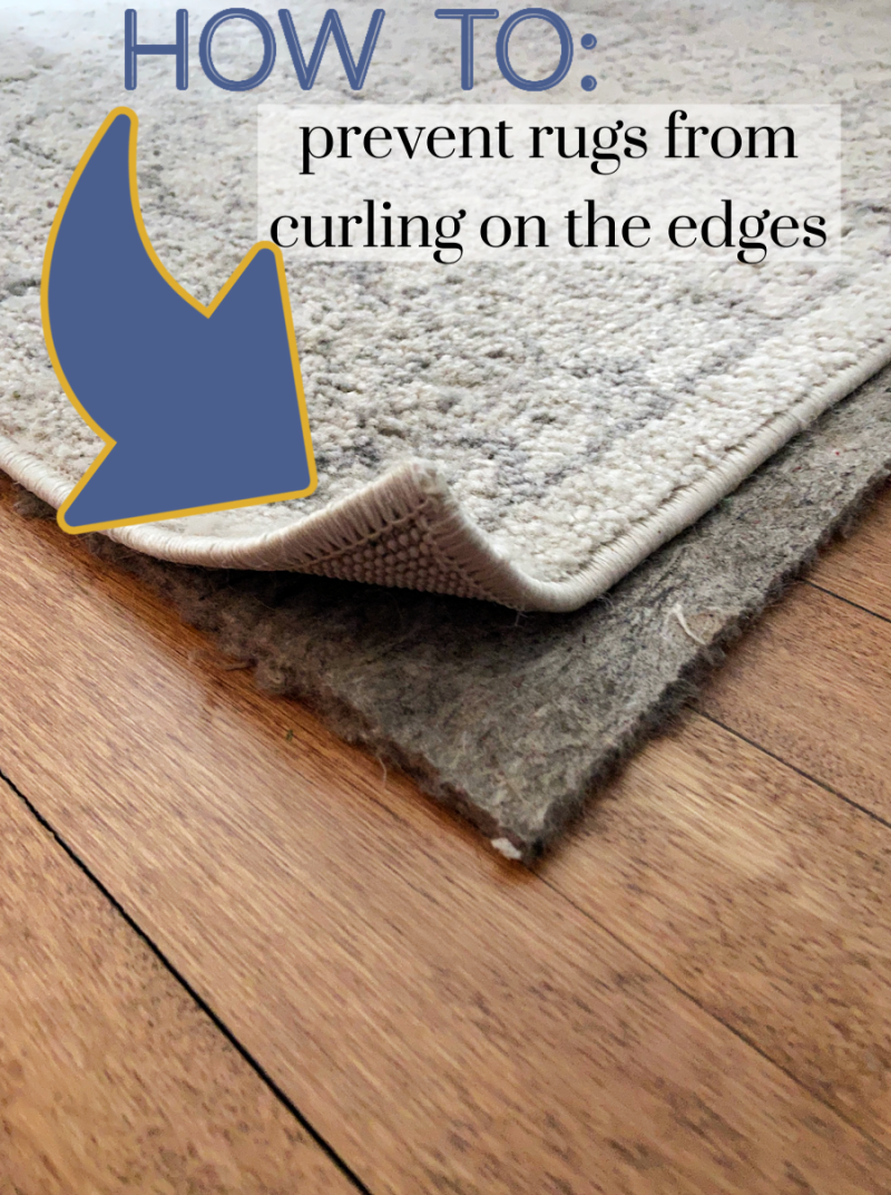 How to prevent rugs curling on the corners