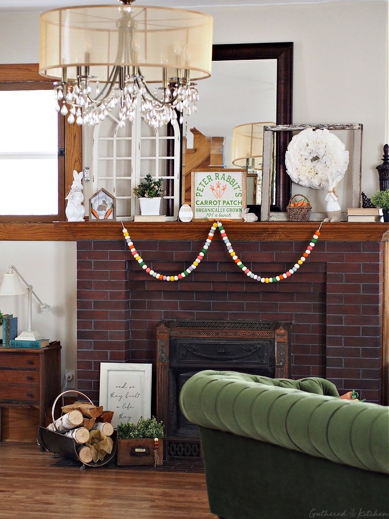 March Mantle Decor