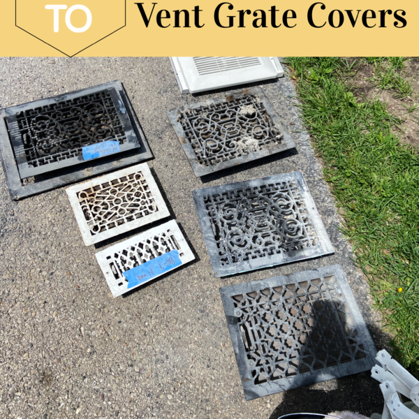 How To Paint & Refinish HVAC Vent Grate Covers