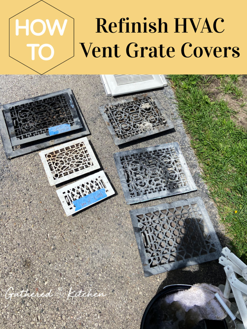 How to refinish HVAC vent cover grates